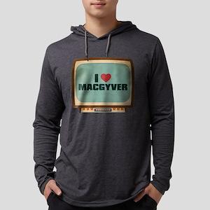 Retro I Heart MacGyver Mens Hooded Shirt