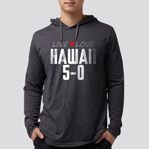 Live Love Hawaii 5-0 Mens Hooded Shirt