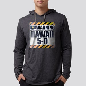 Warning: Hawaii 5-0 Mens Hooded Shirt