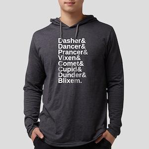Original Reindeer Names Mens Hooded Shirt