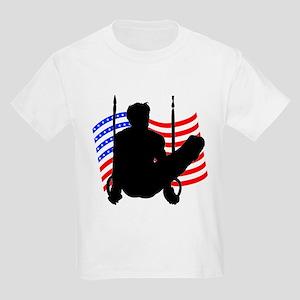 MALE GYMNAST Kids Light T-Shirt