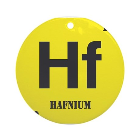 Hafnium Element Ornament (Round)