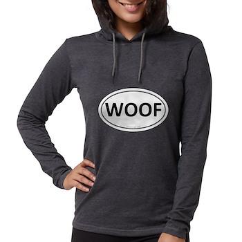 WOOF Euro Oval Womens Hooded Shirt