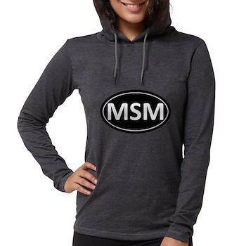 MSM Black Euro Oval Womens Hooded Shirt