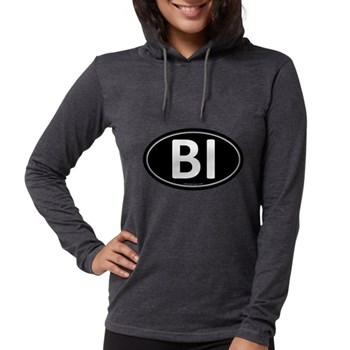 BI Black Euro Oval Womens Hooded Shirt