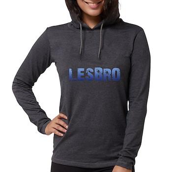 Blue Lesbro Womens Hooded Shirt