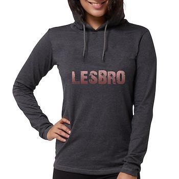 Red Lesbro Womens Hooded Shirt