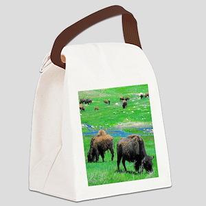 South Dakota Bison Canvas Lunch Bag