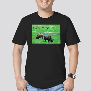 South Dakota Bison Men's Fitted T-Shirt (dark)