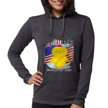 Patriotic Chick Womens Hooded Shirt