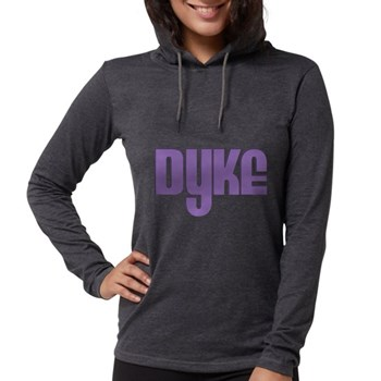 Purple Dyke Womens Hooded Shirt