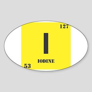 Iodine Element Oval Sticker