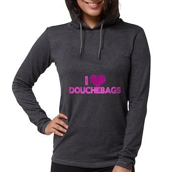 I Heart Douchebags Womens Hooded Shirt