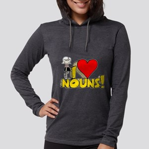 I Heart Nouns Womens Hooded Shirt