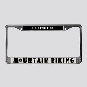 Mountain Biking License Plate Frame