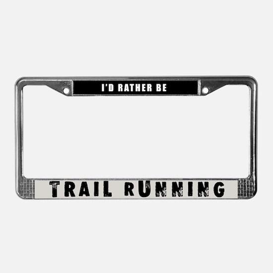 Trail Running License Plate Frame