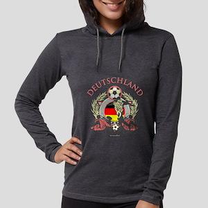Deutschland Soccer Womens Hooded Shirt