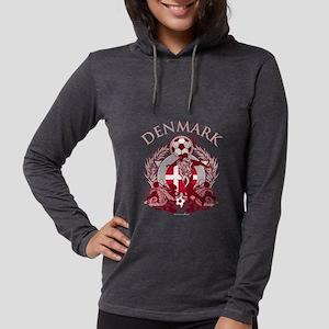 Denmark Soccer Womens Hooded Shirt