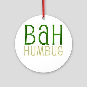 Bah Humbug Christmas Ornament (Round)