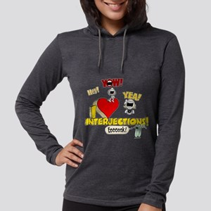 I Heart Interjections Womens Hooded Shirt