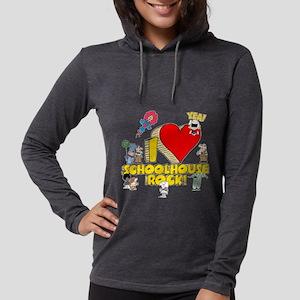 I Heart Schoolhouse Rock! Womens Hooded Shirt