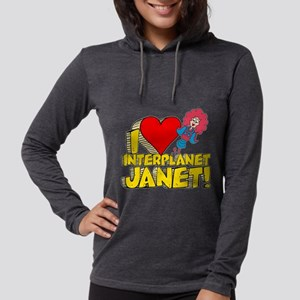 I Heart Interplanet Janet! Womens Hooded Shirt