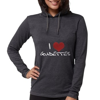 I Heart Guidettes Womens Hooded Shirt