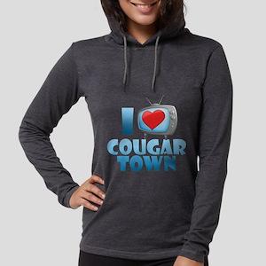 I Heart Cougar Town Womens Hooded Shirt