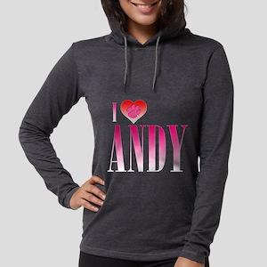 I Heart Andy Womens Hooded Shirt