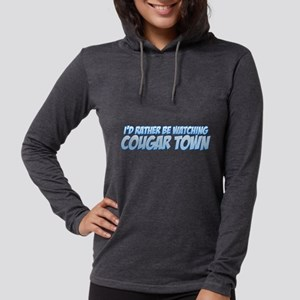 I'd Rather Be Watching Cougar Womens Hooded Shirt