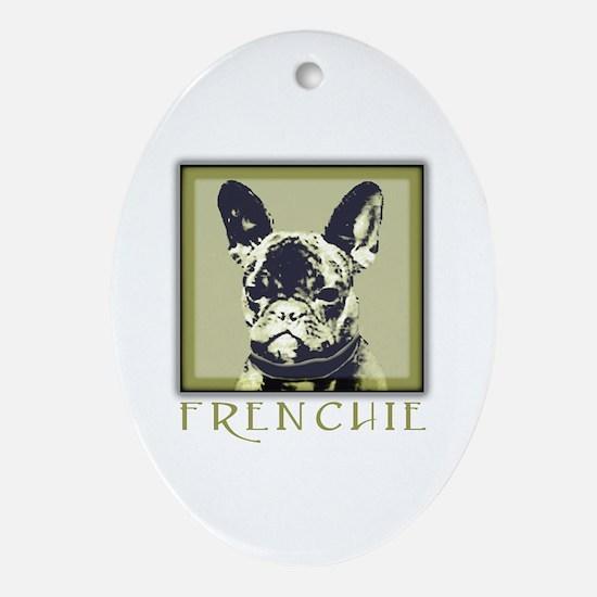 Frenchie Caeldera Oval Ornament