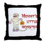 Mummy's Little Monster (boy) Throw Pillow