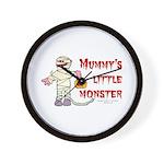 Mummy's Little Monster (boy) Wall Clock