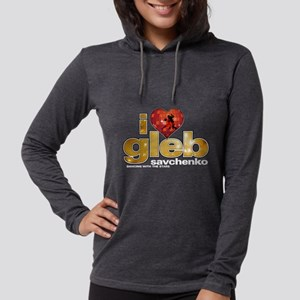 I Heart Gleb Savchenko Womens Hooded Shirt