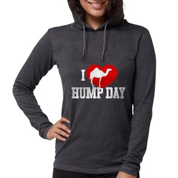 I Heart Hump Day Womens Hooded Shirt