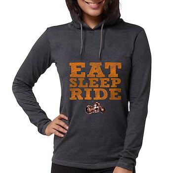 Eat Sleep Ride Womens Hooded Shirt