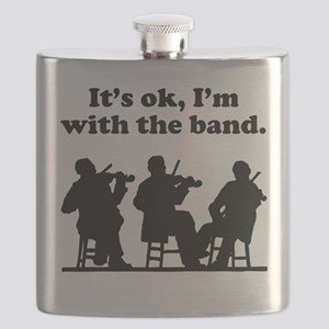 Its OK Im With The Band Flask