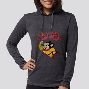 Here I Come to Save the Day Womens Hooded Shirt