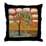 Pattern Sky Tree Throw Pillow