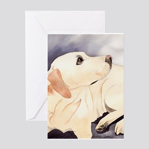 Yellow Lab 1 Greeting Cards