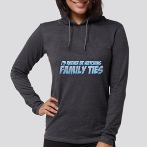I'd Rather Be Watching Family Womens Hooded Shirt