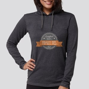 Certified Addict: Family Ties Womens Hooded Shirt