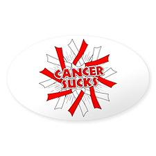 Oral Cancer Sucks Sticker (Oval)
