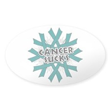 Ovarian Cancer Sucks Sticker (Oval)