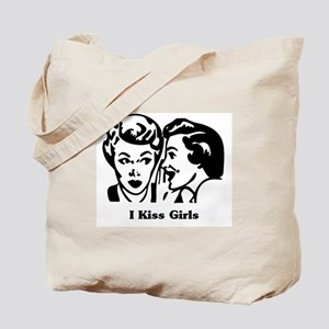 I Kiss Girls Tote Bag