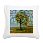 Tree Patterned Blue Sky Square Canvas P