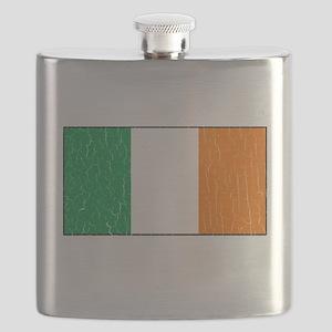 Vintage Irish Flag (Distressed) Flask