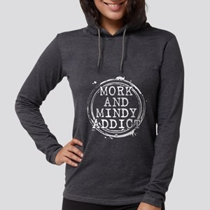 Mork and Mindy Addict Womens Hooded Shirt
