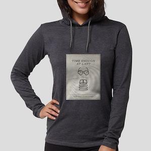 Time Enough at Last Minimal Po Womens Hooded Shirt
