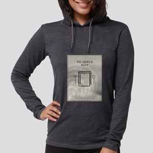 To Serve Man Minimal Poster Womens Hooded Shirt